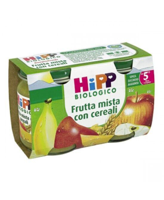 Hipp Italia Srl Hipp Biologico Omogeneizzato Di Frutta Mista Con Cereali 2x125g