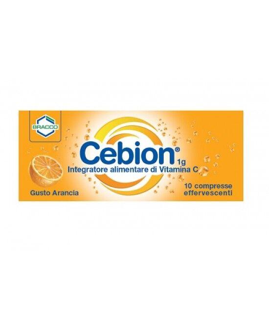 Bracco Spa Div.Farmaceutica Cebion Effervescente Integratore Alimentare Di Vitamina C Arancia 10 Compresse
