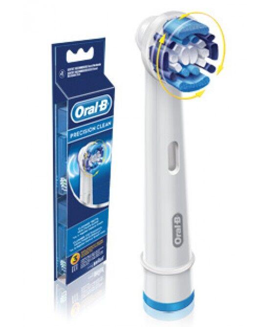 procter & gamble srl oral-b  precision clean testine di ricambio per spazzolino elettrico 3 ricambi