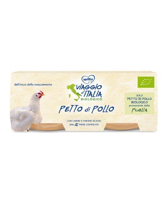 Mellin Viaggio D'Italia Omogeneizzato Petto Pollo 2 X 80 G