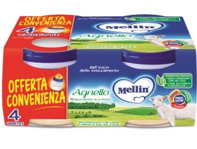 Mellin Omogeneizzato Agnello 4 Pezzi X 80 G