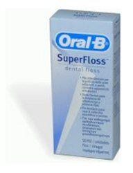 Procter & Gamble Srl Filo Interdentale Oral B Superfloss Estremita' Rigida + Filo Spugnoso + Filo Standard 50 Pezzi Pretagliati