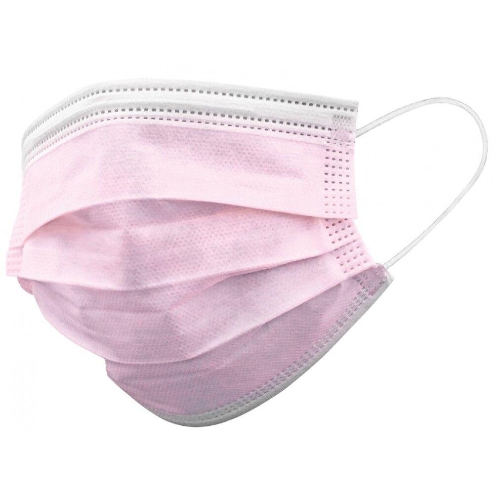 apc mascherina chirurgica monouso adulti - tipo ii colore rosa 10 pz
