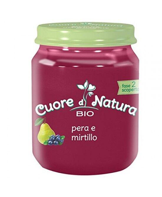 Heinz Italia Spa Cuore Di Natura Omogeneizzato Pera & Mirtillo Bio 110 G