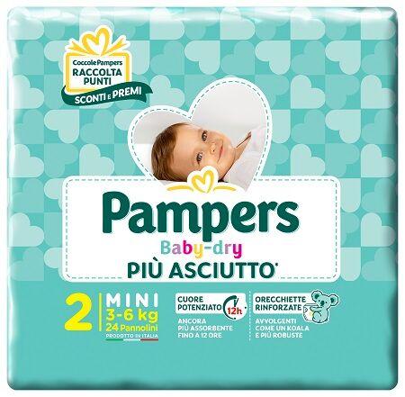 Fater Spa Pannolini Per Bambini Pampers Baby Dry Downcount No Flash Mini 24 Pezzi Buono Sconto
