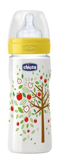 chicco biberon well being in polipropilene unisex da 330 ml fast silicone ita