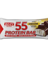 biovita srl why sport 55 protein bar barretta zabaione 55 g