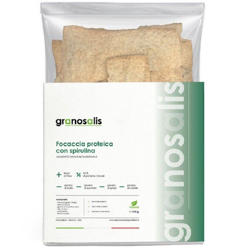 Grano Salis Srl Focaccia Proteica Alga Spirulina 200 G