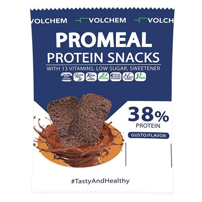 Volchem Srl Promeal Protein Snacks Cacao 3x12,5 G