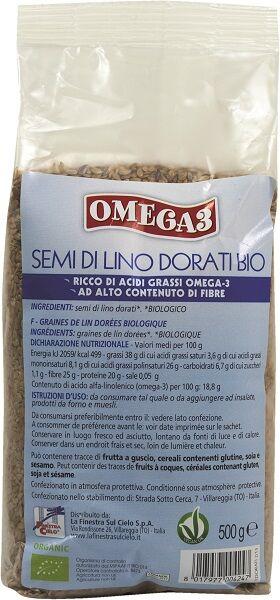 La Finestra Sul Cielo Fsc Omega3 Semi Di Lino Dorati Bio Ad Alto Contenuto Di Fibra 500 G