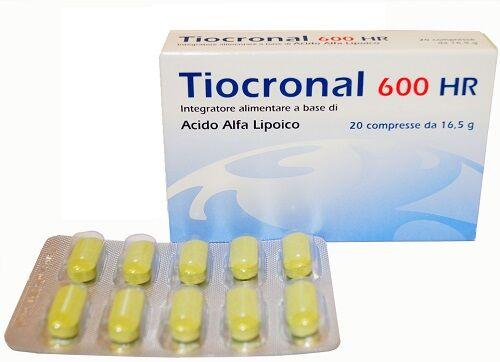 fidia farmaceutici spa tiocronal 600 hr 20 compresse