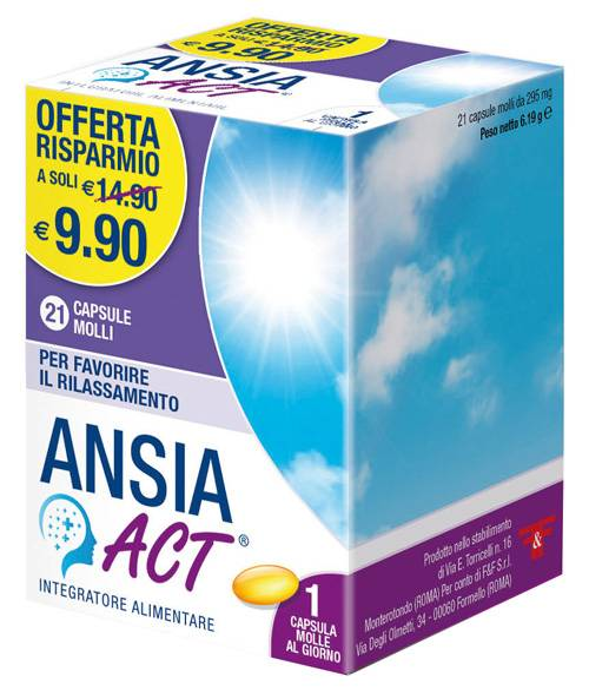 F&f Srl Ansia Act 21 Capsule Molli