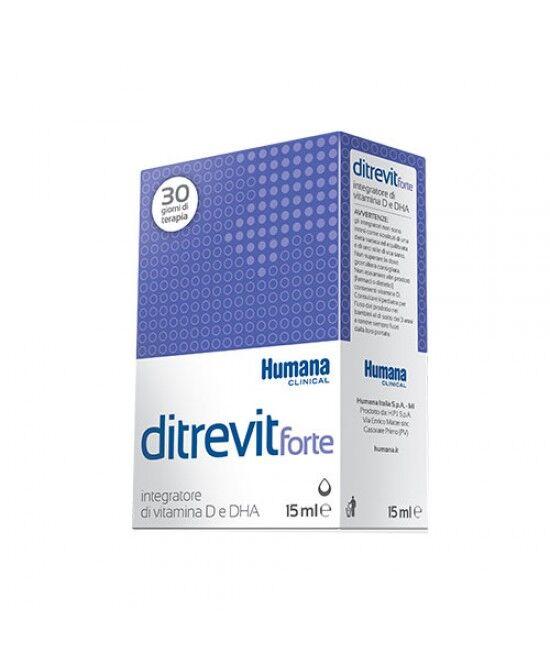 Humana Italia Spa Humana Ditrevit Forte Integratore Alimentare Di Vitamina D E Dha 15ml
