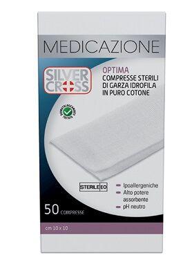 Comifar Distribuzione Spa Garza Silvercross Cotone 10x10cm 50 Pezzi