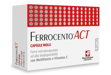Pharmasuisse Laboratories Srl Ferrocento Act 30 Capsule Molli