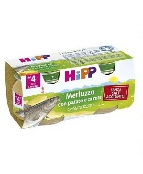Hipp Italia Srl Hipp Omogeneizzato Merluzzo Con Patate E Carote 2x80g