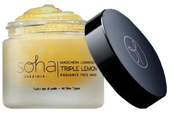 soha sardinia srl soha maschera luminosita' triple lemon tutti i tipi di pelle 50 ml