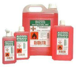 Alcoolital Srl Alcool Etilico Denaturato 90% 250 Ml