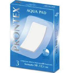 Safety Spa Garza Compressa Prontex Aqua Pad 10x12,5 Cm 3 Pezzi