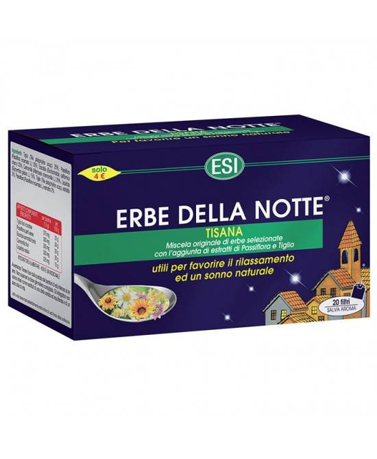 Esi Spa Esi Erbe Della Notte Tisana 20 Filtri
