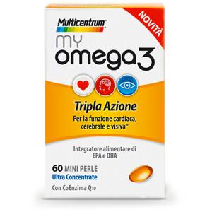 Pfizer Italia Div.Consum.Healt Multicentrum My Omega3 Integratore Alimentare 60 Mini Perle