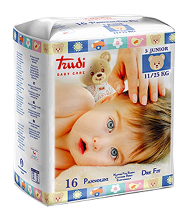 Silc Spa Trudi Baby Care Pannolino Dry Fit Junior 11/25 Kg 16 Pezzi