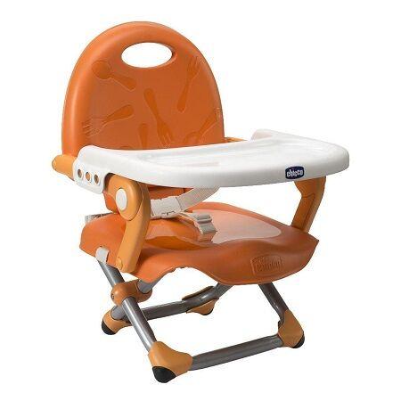 Chicco Booster Seat Pocket Snack Mandarino