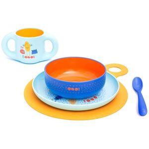 Exclusivas Rimar S.L. Suavinex Set Svezzamento Boy Piatto + Bicchiere + Scodella + Cucchiaio