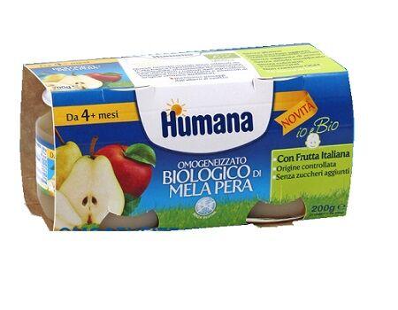 Humana Italia Spa Humana Omogeneizzato Mela/pera Bio 2 Vasetti 100 G