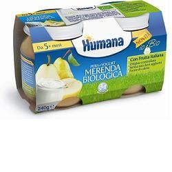 Humana Italia Spa Humana Merenda Pera Yogurt Bio 240 G