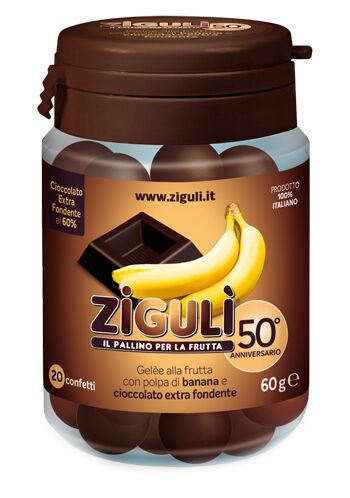 Falqui Prodotti Farmac. Srl Ziguli Gelee Gusto Banana E Cioccolato Fondente 60% 20 Confetti 60 G