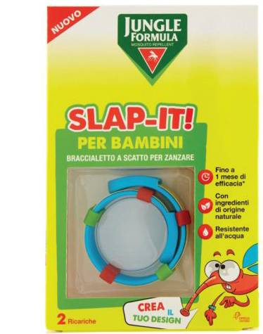 Chefaro Pharma Italia Srl Jungle Formula Slap-It Braccialetto Anti-Zanzare Per Bambini+ 2 Ricariche
