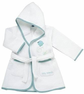 Chicco Ch Accappat Piq Azz Uccell12m+