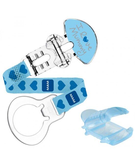 bamed baby italia s.r.l. mam love clip e cover con custodia blu