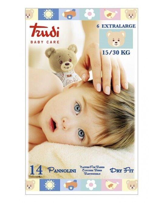 Silc Spa Trudi Baby Care Pannolino Dry Fit Xl 15/30 Kg 14 Pezzi