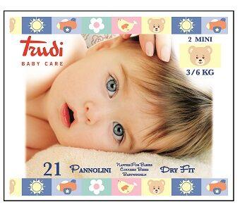 Silc Spa Trudi Baby Care Pannolini Dry Fit Mini 3/6 Kg 21 Pezzi