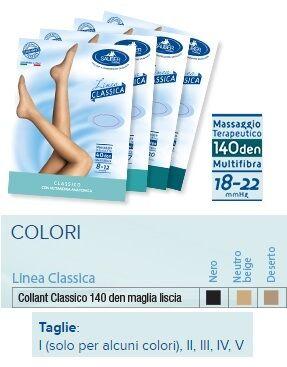 Desa Pharma Srl Sauber Collant 140 Denari Maglia Liscia Neutro Beige 4 Linea Classica