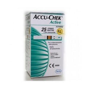 Roche Diabetes Care Italy Spa Strisce Misurazione Glicemia Accu-Chek Active Strips 25 Pezzi Inf Retail