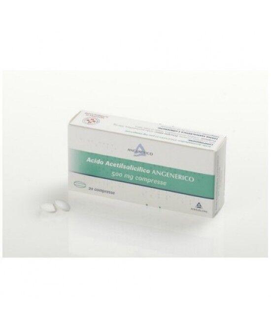 Angenerico Spa Angelini Acido Acetilsalicilico 500mg Trattamento Sintomatico Di Stati Febbrili E Dolorosi 20 Compresse