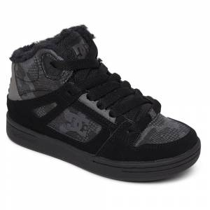 Dc Shoes Pure High Top Wnt EU 34 Black Camouflage