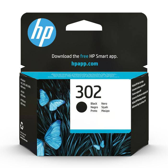 Hp 302 Nero cartuccia d'inchiostro originale F6U66AE