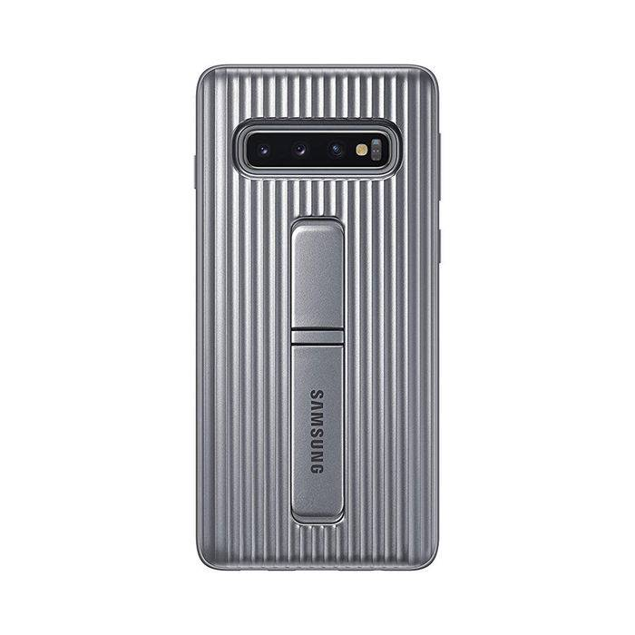Samsung Standing Cover S10 Argento
