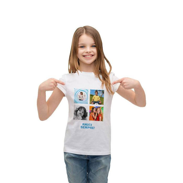 Fototag T-SHIRT BABY BIANCA FRONTE