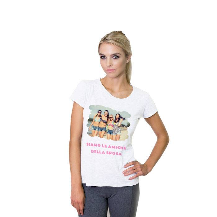 Fototag T-SHIRT BIANCA DONNA FRONTE