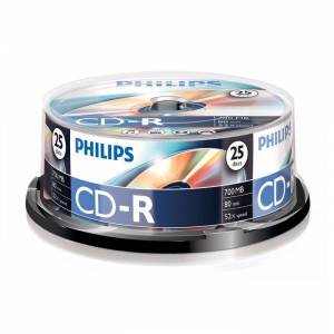 Philips CD-R 80Min 700MB 52x spindle (25pzz)