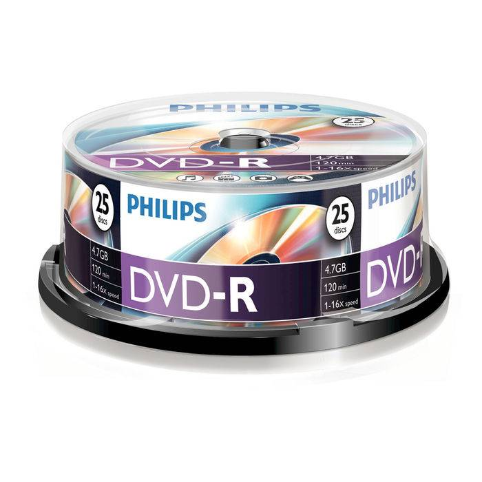 Philips DVD-R 4,7GB 16x spindle (25pzz)