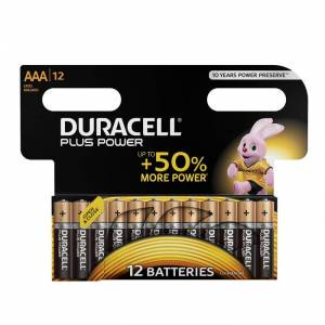 Duracell Batteria Plus Power B12 Ministilo AAA 12pz