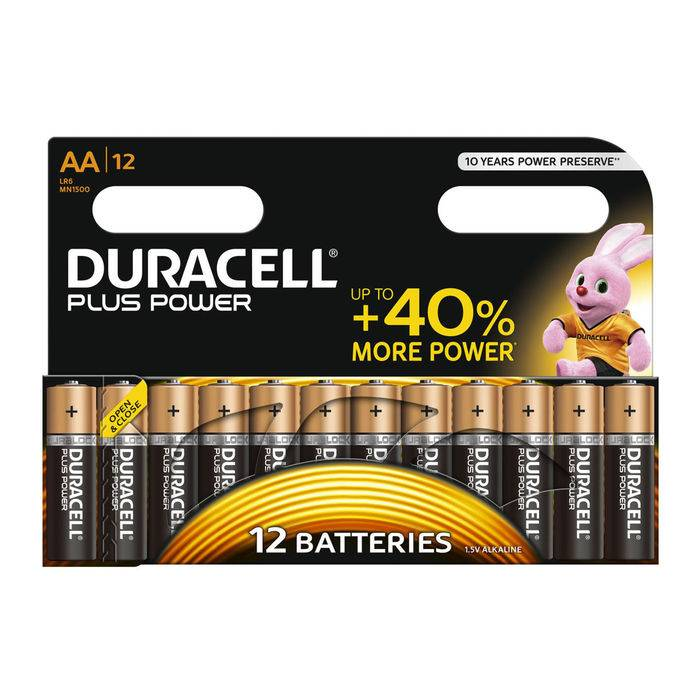 Duracell Batteria Plus Power B12 Stilo AA 12pz