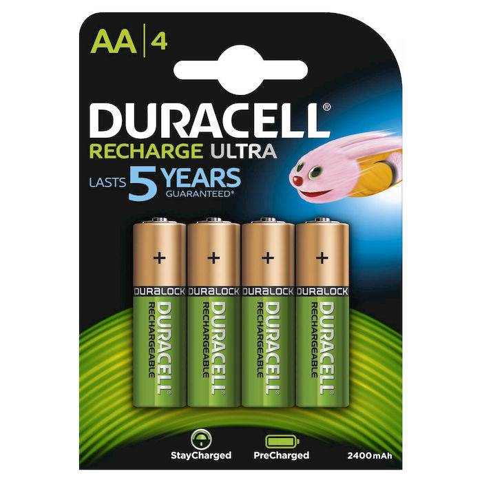 Duracell Batterie Ricaricabili StayCharged Stilo AA x4pz