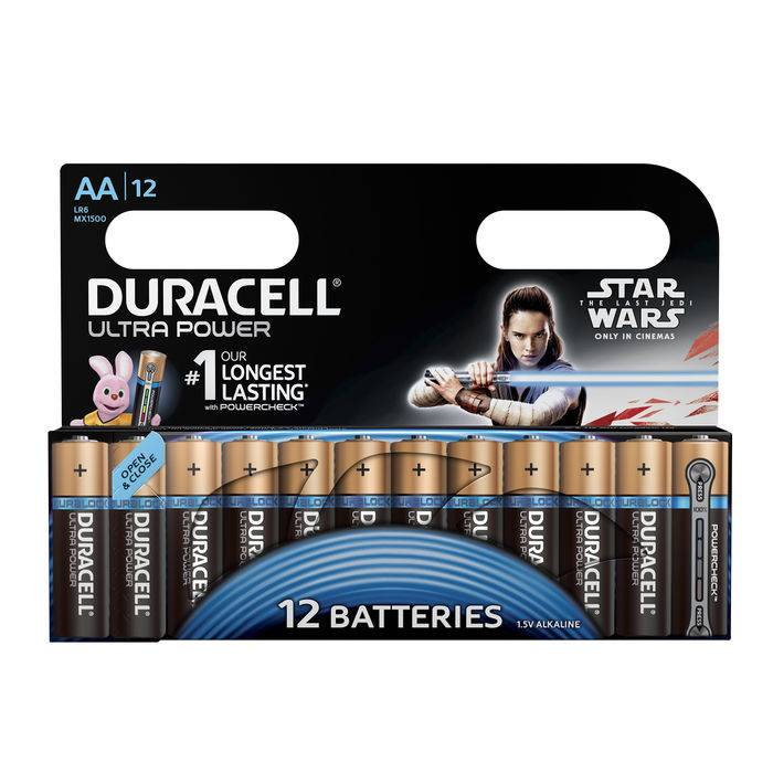 Duracell Batteria Ultra Power Stilo AA 12pz